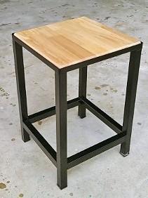 เก้าอี้ สี่เหลี่ยม หน้าไม้ยางพารา  30 * 30*48 ซม