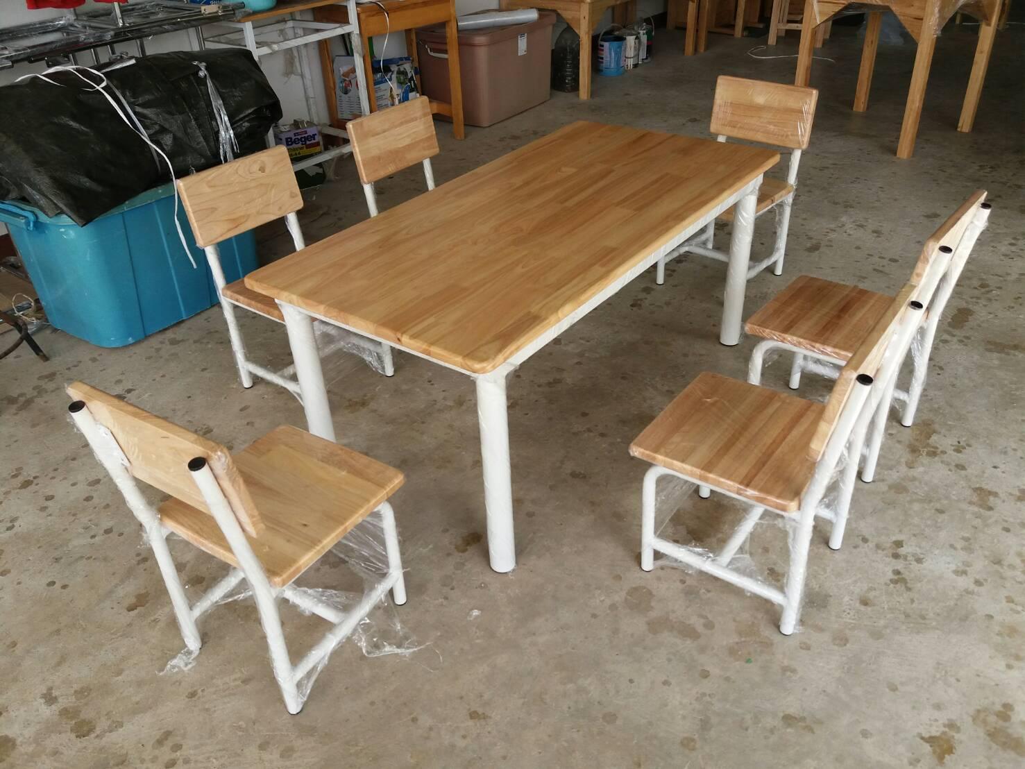โต๊ะ กลุ่ม อนุบาล หน้าไม้ยางพารา