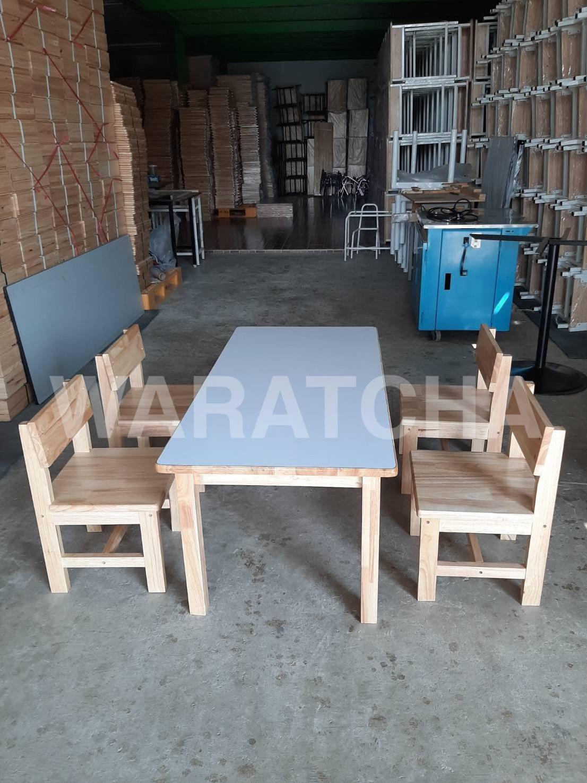 โต๊ะกลุ่มอนุบาล ขาไม้